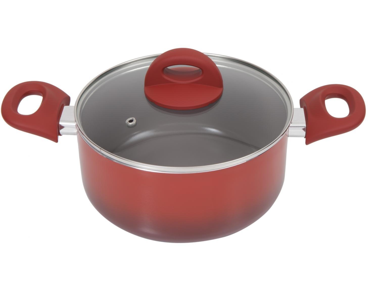 Jogo de Panelas Brinox de Alumínio Vermelha - 6 Peças Ceramic Life Smart Plus 4791/101 - 8