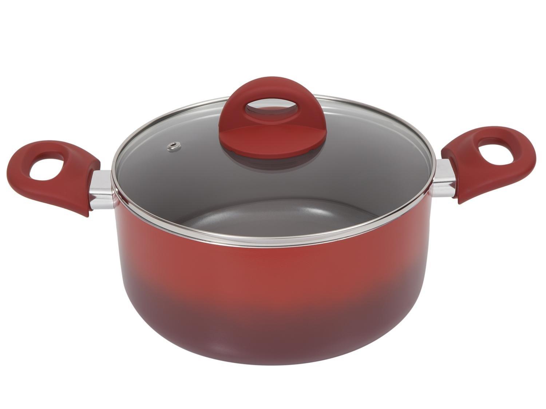 Jogo de Panelas Brinox de Alumínio Vermelha - 6 Peças Ceramic Life Smart Plus 4791/101 - 9