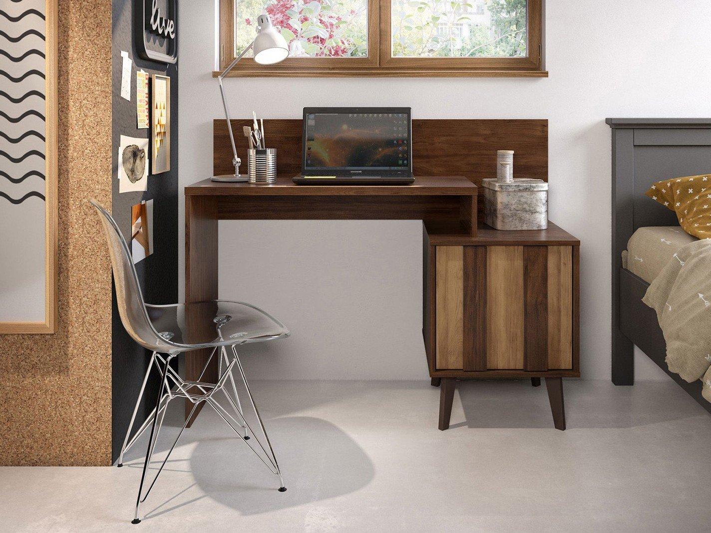 Foto 1 - Escrivaninha/Mesa para Computador 1 Porta - Líder Design Premium Style