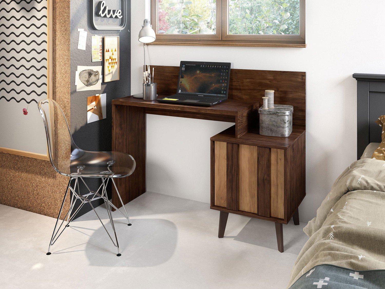 Foto 2 - Escrivaninha/Mesa para Computador 1 Porta - Líder Design Premium Style