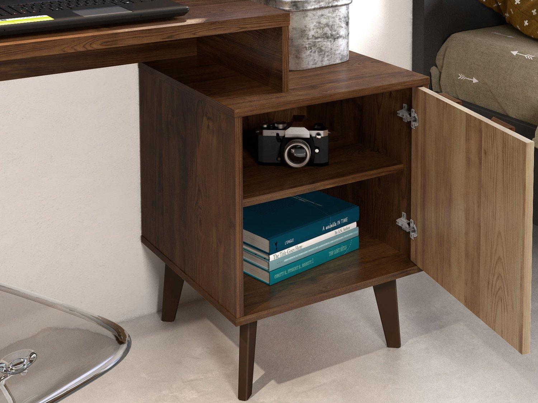 Foto 3 - Escrivaninha/Mesa para Computador 1 Porta - Líder Design Premium Style