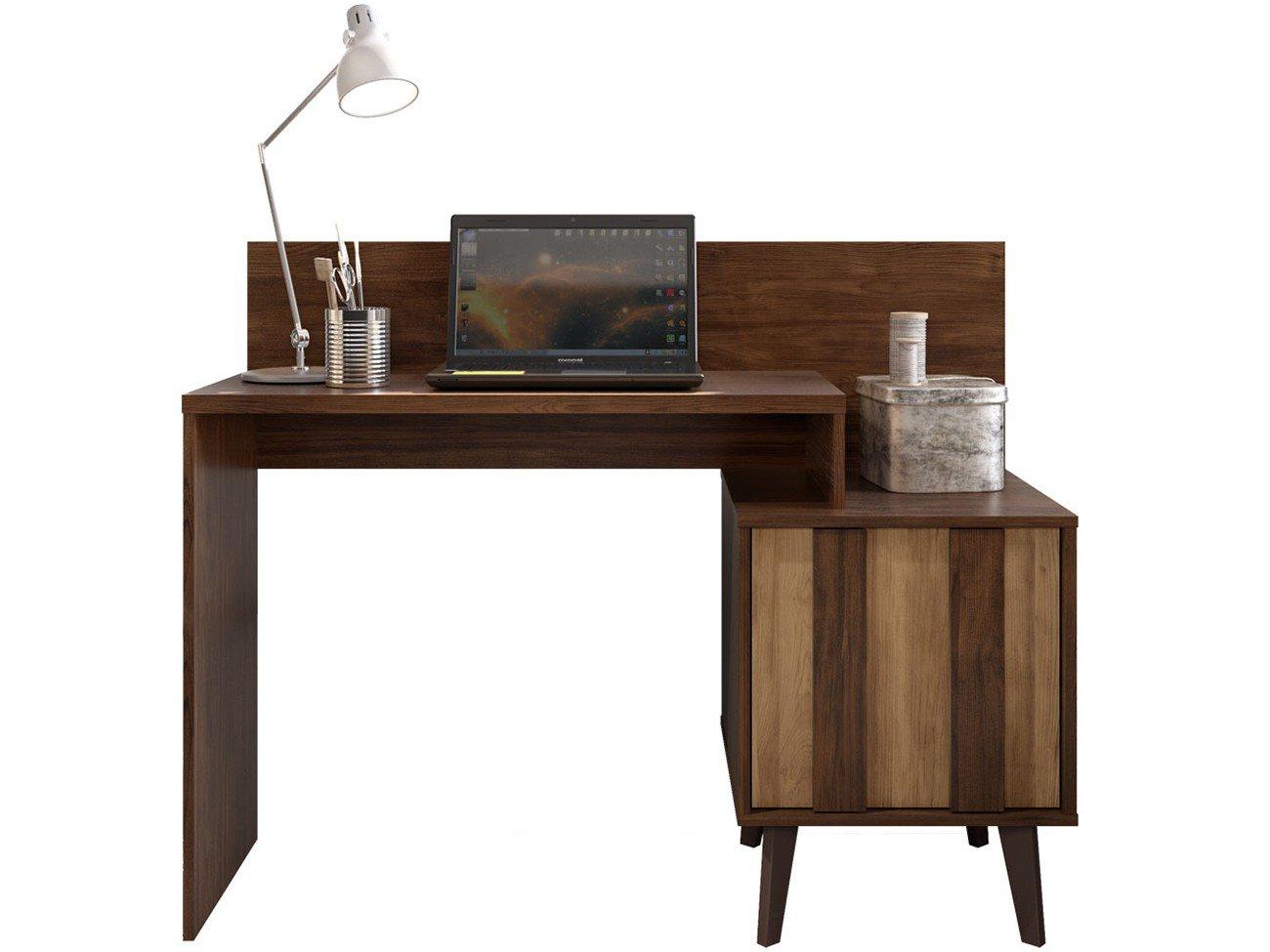 Foto 4 - Escrivaninha/Mesa para Computador 1 Porta - Líder Design Premium Style