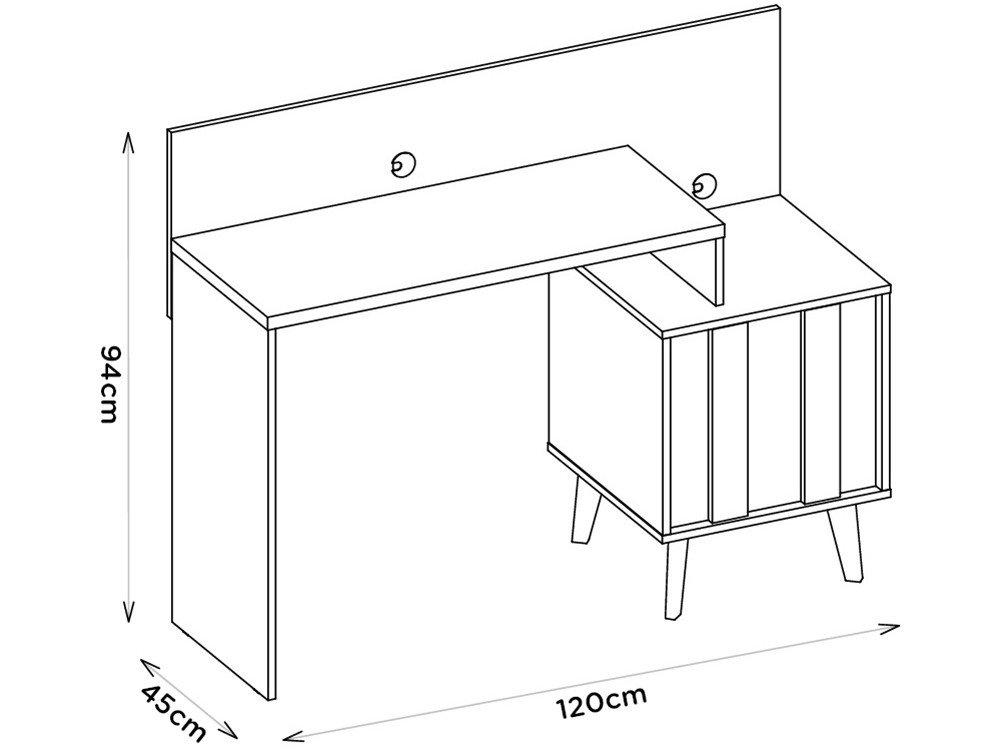 Foto 6 - Escrivaninha/Mesa para Computador 1 Porta - Líder Design Premium Style