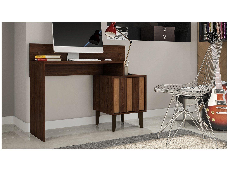 Foto 7 - Escrivaninha/Mesa para Computador 1 Porta - Líder Design Premium Style