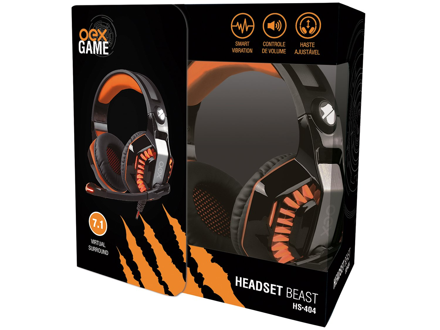 Foto 4 - Headset Gamer OEX Beast HS404 - para PC