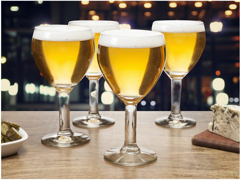Jogo de Taças para Cerveja Vidro 4 Peças - 550ml Ruvolo Abadia - 2