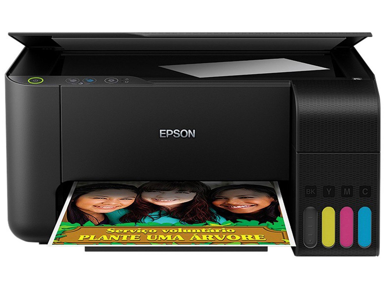 Impressora Multifuncional Epson EcoTank L3110 - Tanque de Tinta Colorida USB - Bivolt - 4