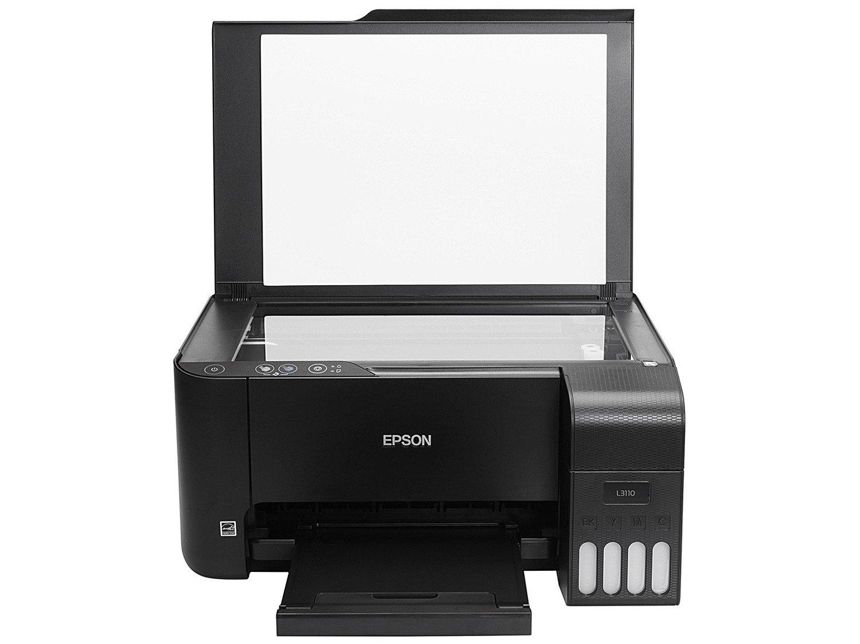 Impressora Multifuncional Epson EcoTank L3110 - Tanque de Tinta Colorida USB - Bivolt - 5