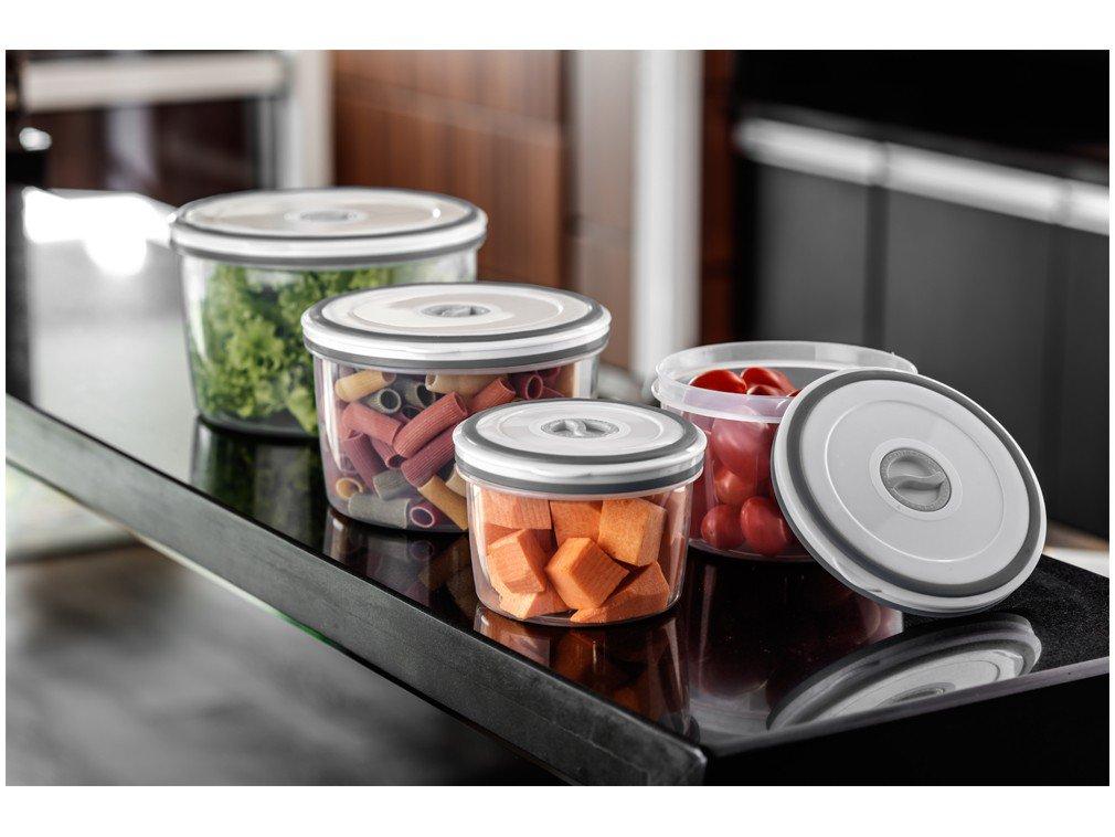 Jogo de Potes de Plástico Hermético Electrolux - com Tampa Redondo A15405201 4 Peças - 4