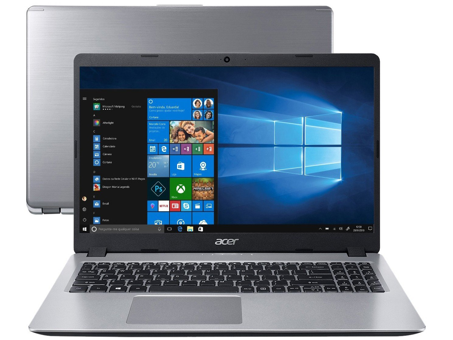 "Notebook Acer Aspire 5 A515-52-536H Intel Core i5 - 8GB SSD 256GB 15,6"" Windows 10 - Bivolt"