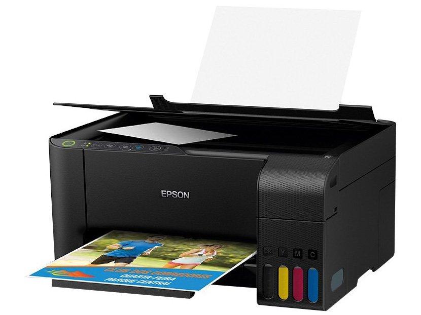 Impressora Multifuncional Epson EcoTank L3150 - Tanque de Tinta Wi-Fi Colorida USB - Bivolt