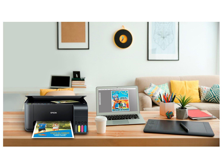 Impressora Multifuncional Epson EcoTank L3150 - Tanque de Tinta Wi-Fi Colorida USB - Bivolt - 8