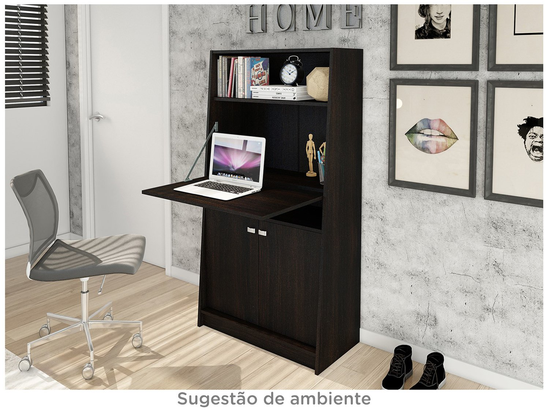 Foto 3 - Armário de Escritório com Mesa Retrátil 2 Portas - 1 Prateleira Tecno Mobili ME4136