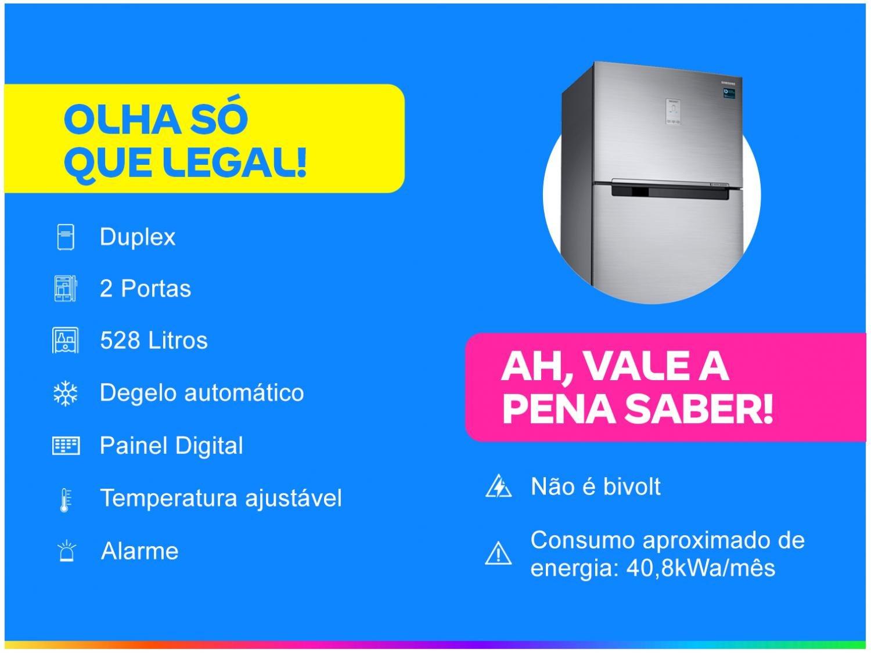 Geladeira/Refrigerador Samsung Automático - Inox Duplex 528L RT53K6240S8/AZ - 110 V - 1