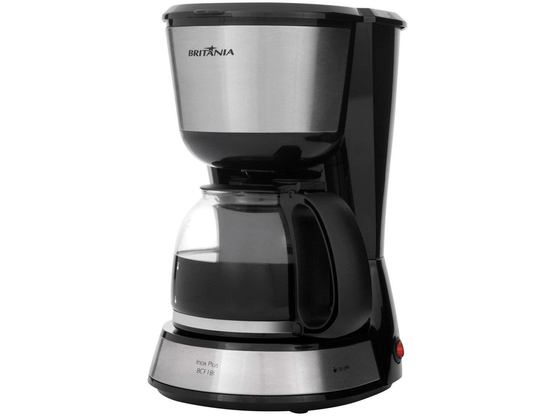 Cafeteira Elétrica Britânia BCF18I Inox Plus até 18 cafés – Preto - 110V