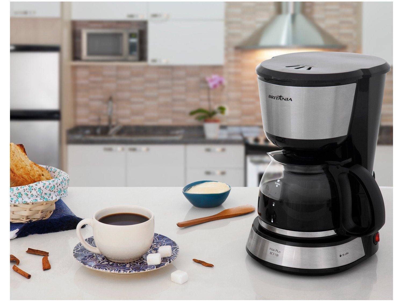 Cafeteira Elétrica Britânia BCF18I Inox Plus até 18 cafés – Preto - 110V - 1