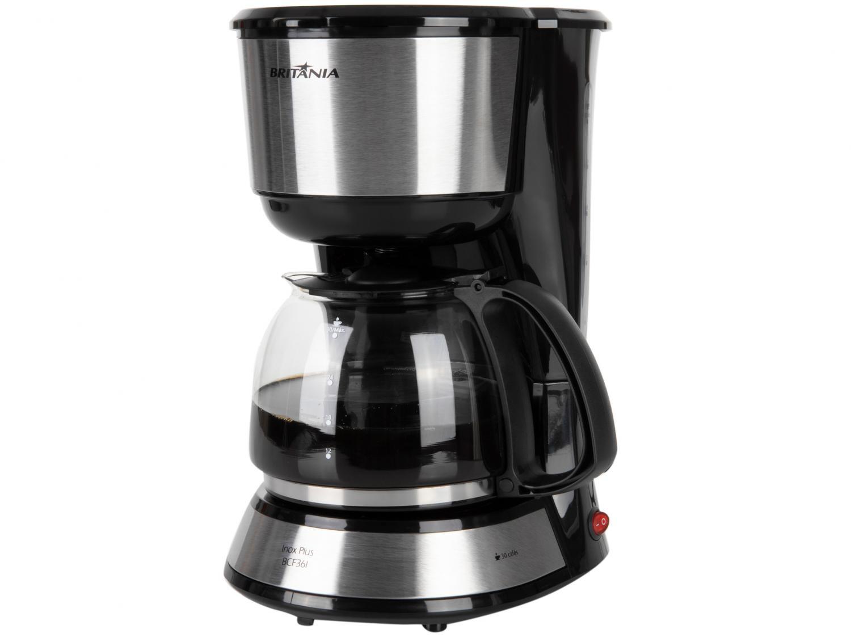 Cafeteira Elétrica Britânia BCF36I Inox Plus até 30 cafés – Preto - 220V