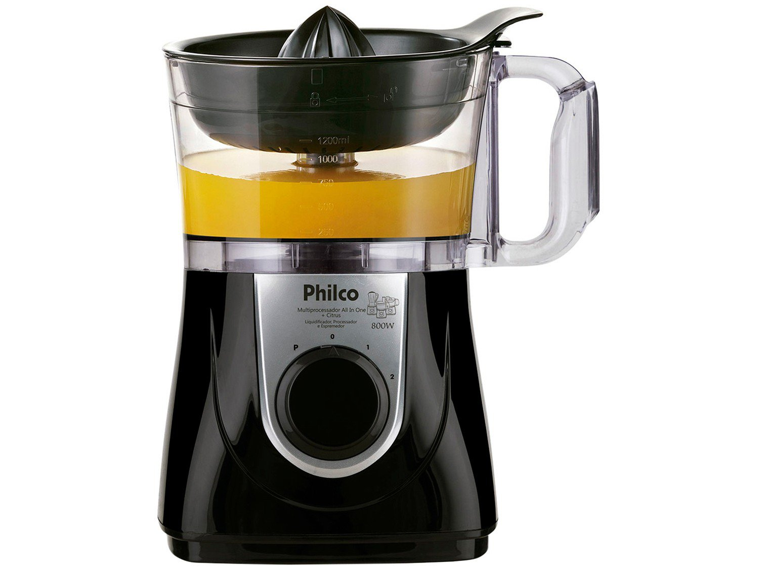 Multiprocessador de Alimentos Philco All In One Citrus + 800W – Preto - 110V - 16