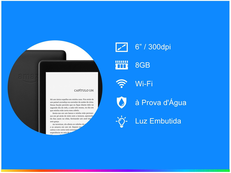 "Novo Kindle Paperwhite Amazon à Prova de Água - Tela 6"" 8GB Wi-Luz Embutida Preto - Bivolt - 2"