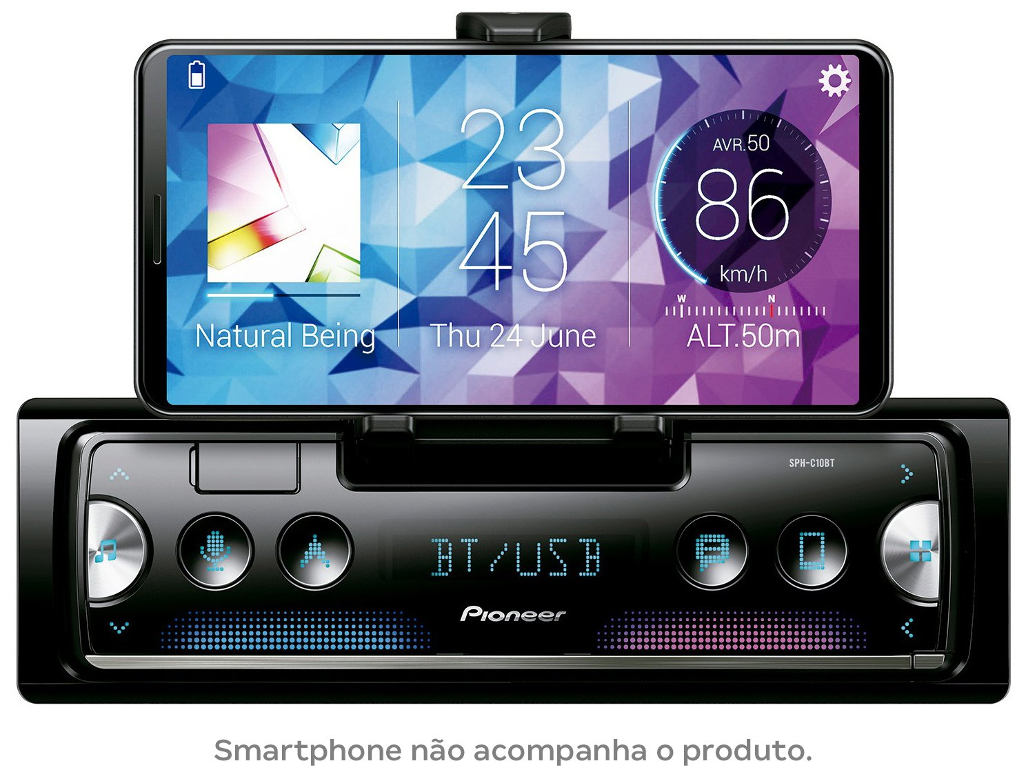 Som Automotivo Pioneer MP3 AM/FM Bluetooth - USB SPH-C10BT - 4