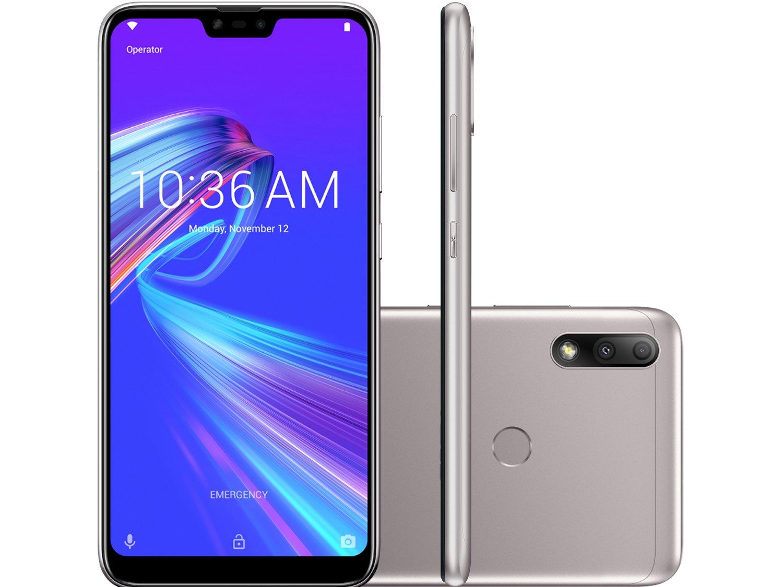 """Smartphone Asus ZenFone Max Plus (M2) ZB634KL Prata 32GB, Tela 6.2"""", Dual Chip, Câmera Traseira Dupla, Android 8.0, Processador Octa Core e 3GB RAM - 1"""