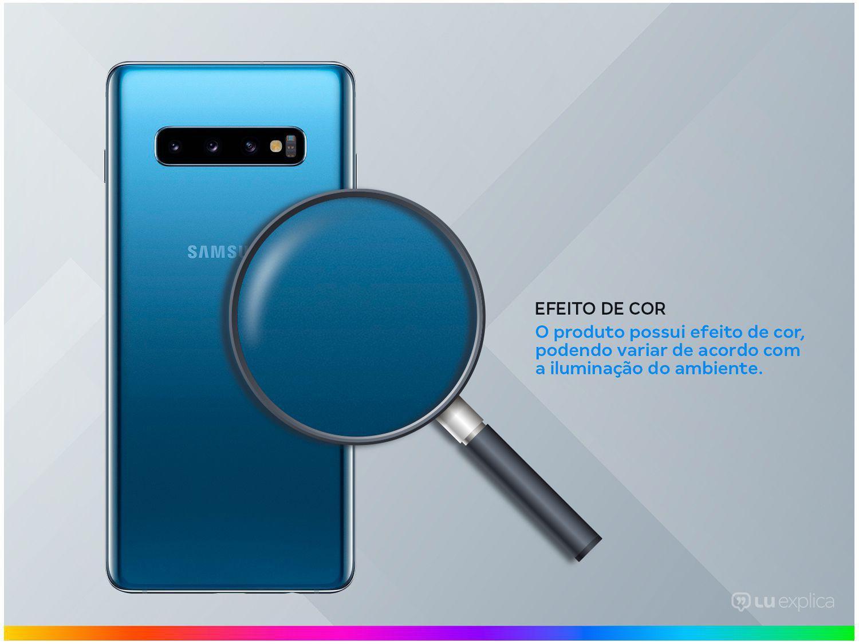 "Smartphone Samsung Galaxy S10+ 128GB Azul 4G - 8GB RAM Tela 6,4"" Câm. Tripla + Câm. Selfie Dupla - 2"