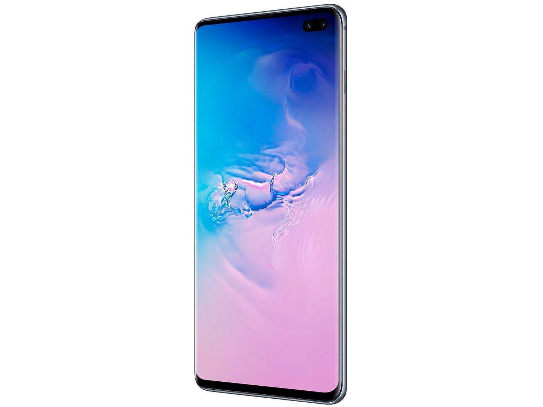 "Smartphone Samsung Galaxy S10+ 128GB Azul 4G - 8GB RAM Tela 6,4"" Câm. Tripla + Câm. Selfie Dupla - 4"