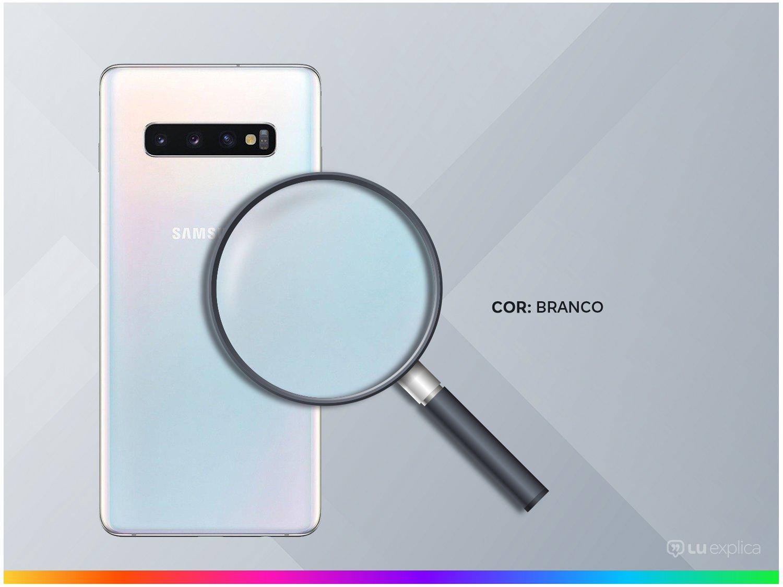 "Smartphone Samsung Galaxy S10+ 128GB Branco 4G - 8GB RAM Tela 6,4"" Câm. Tripla + Câm. Selfie Dupla - 2"