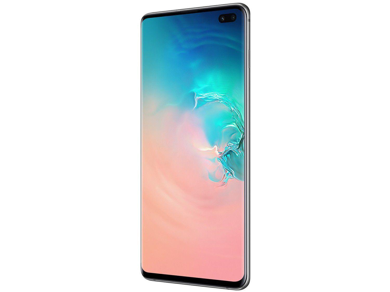"Smartphone Samsung Galaxy S10+ 128GB Branco 4G - 8GB RAM Tela 6,4"" Câm. Tripla + Câm. Selfie Dupla - 4"