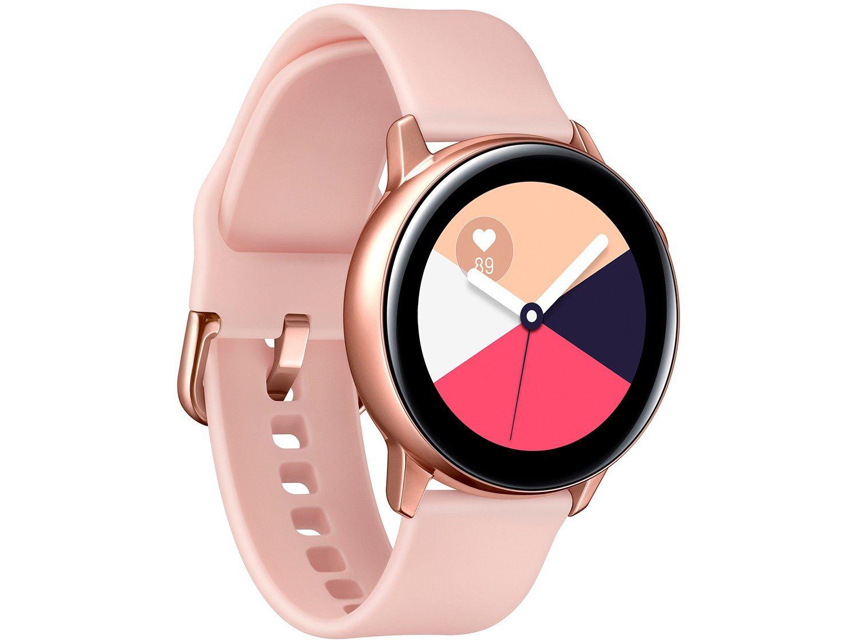 Smartwatch Samsung Watch Active Galaxy - Rosê 4GB - 8