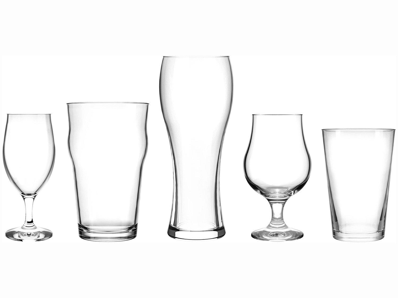 Jogo de Copos de Vidro para Cerveja 5 Peças - Nadir Kit Para Cervejas Especiais