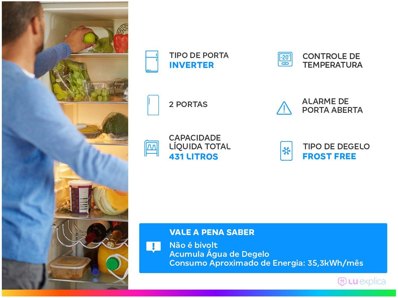 Refrigerador Electrolux Frost Free IF55S Inverter Top Freezer Platinum - 431L - 220v - 1