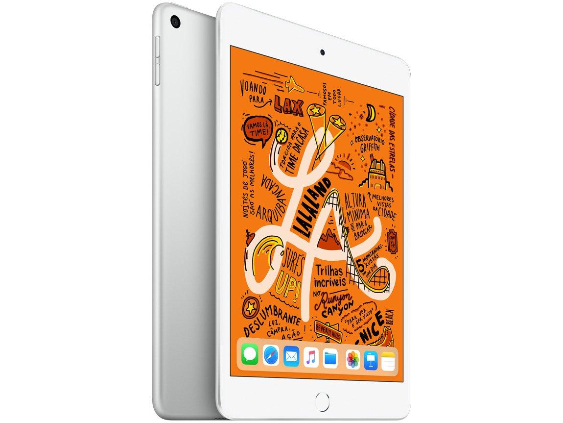 Foto 1 - iPad Mini Apple 256GB Prata 7,9 Retina - Proc. Chip A12 Câm. 8MP + Frontal 7MP iOS 12