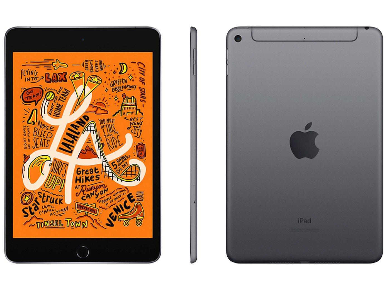Foto 1 - iPad Mini Apple 4G 64GB Cinza Espacial 7,9 - Retina Proc. Chip A12 Câm. 8MP + Frontal 7MP