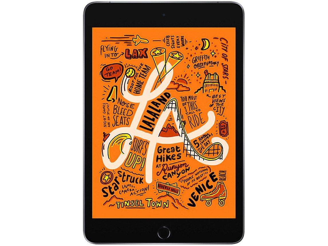 Foto 2 - iPad Mini Apple 4G 64GB Cinza Espacial 7,9 - Retina Proc. Chip A12 Câm. 8MP + Frontal 7MP