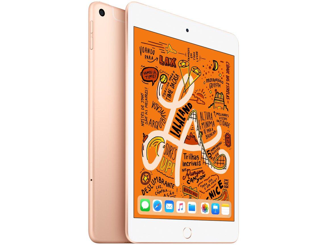 Foto 1 - iPad Mini Apple 4G 64GB Dourado 7,9 Retina - Proc. Chip A12 Câm. 8MP + Frontal 7MP iOS 12