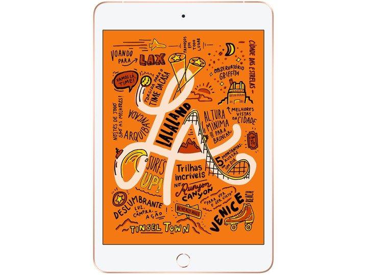 Foto 2 - iPad Mini Apple 4G 64GB Dourado 7,9 Retina - Proc. Chip A12 Câm. 8MP + Frontal 7MP iOS 12