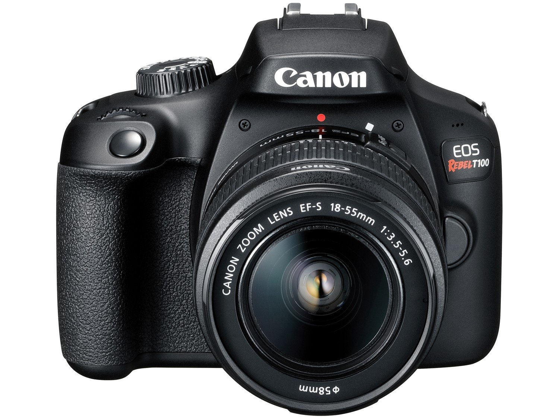 "Câmera Digital Canon EOS Rebel T100 com 18 MP, LCD 3.0"", Full HD, Digic 4+, Wi-Fi - Preta - 6"