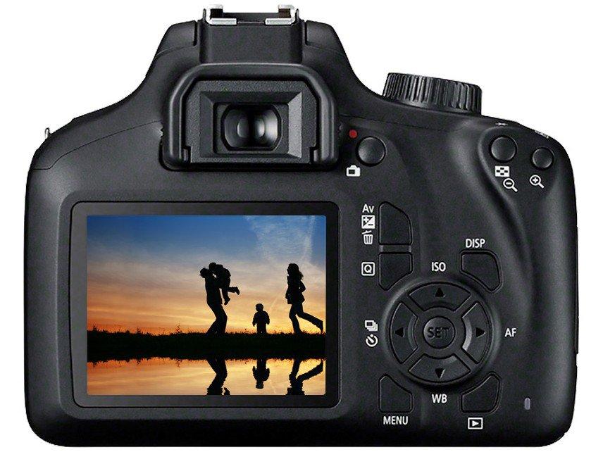 "Câmera Digital Canon EOS Rebel T100 com 18 MP, LCD 3.0"", Full HD, Digic 4+, Wi-Fi - Preta - 9"