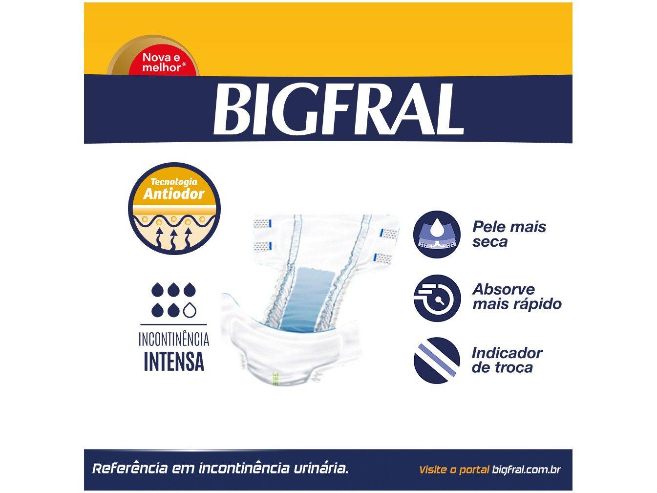 Fralda Geriatrica Bigfral Plus M 18 Unidades - 4