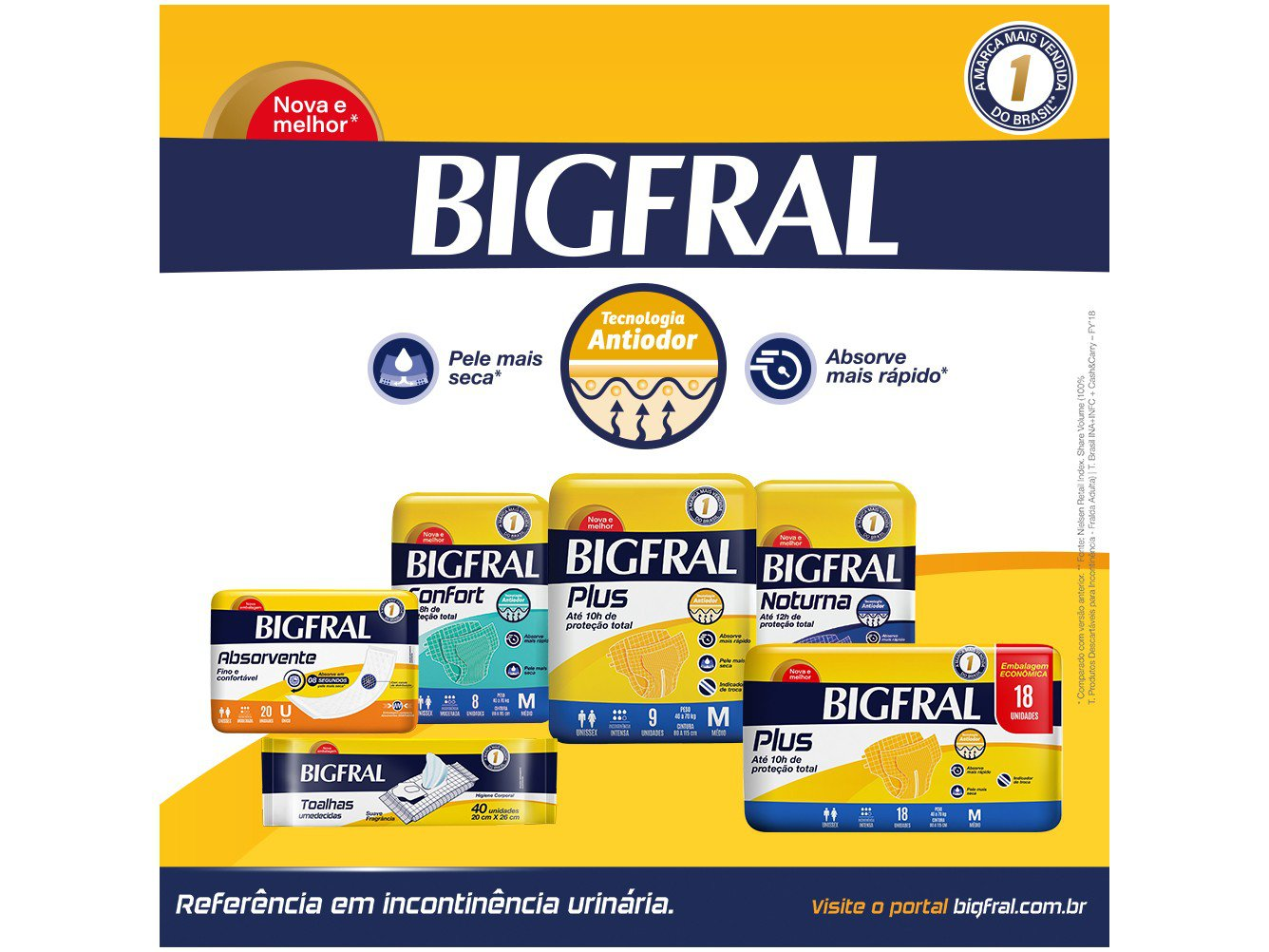 Fralda Geriatrica Bigfral Plus M 18 Unidades - 5