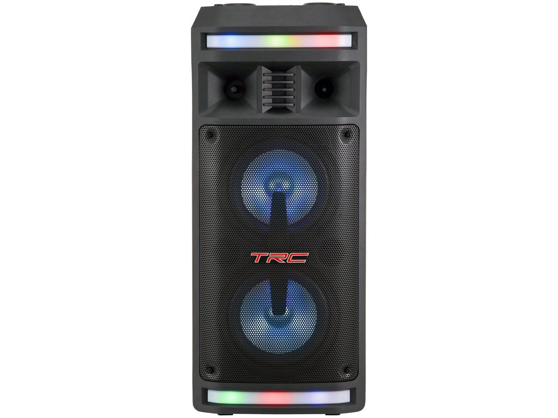 Caixa de Som Bluetooth TRC 335 Ativa Amplificada - 200W com Microfone USB - Bivolt - 8