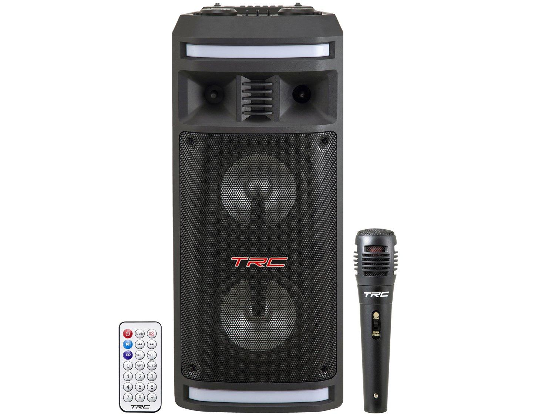 Caixa de Som Bluetooth TRC 335 Ativa Amplificada - 200W com Microfone USB - Bivolt - 12