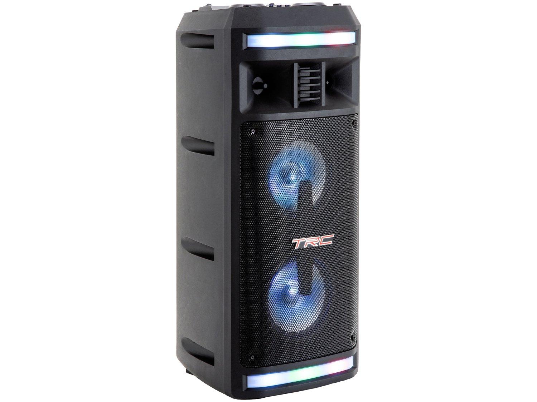 Caixa de Som Bluetooth TRC 335 Ativa Amplificada - 200W com Microfone USB - Bivolt - 16