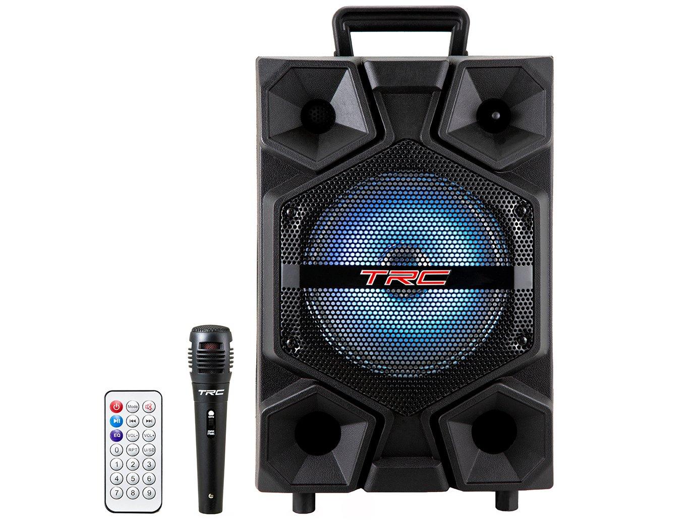Caixa de Som Bluetooth TRC 512 Ativa Amplificada - 150W com Microfone USB