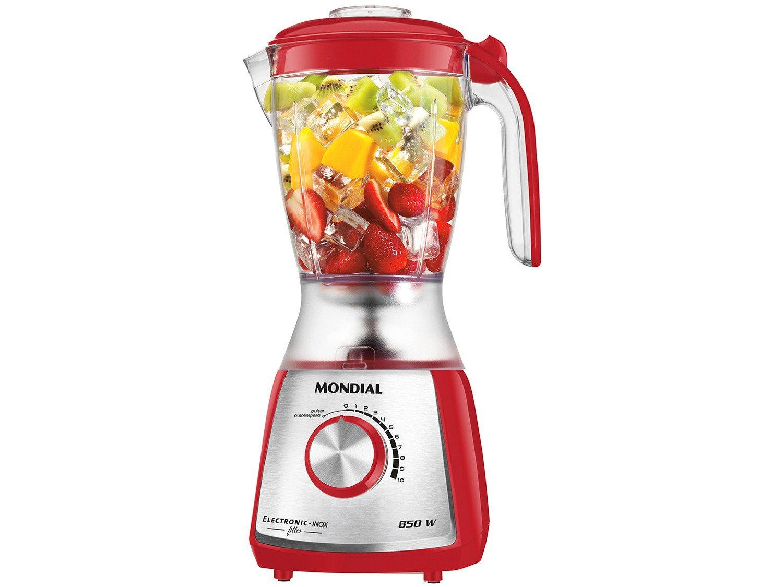 Kit Premium Inox Gourmet Red IV Mondial - com Liquidificador Batedeira Espremedor - 110 V - 1