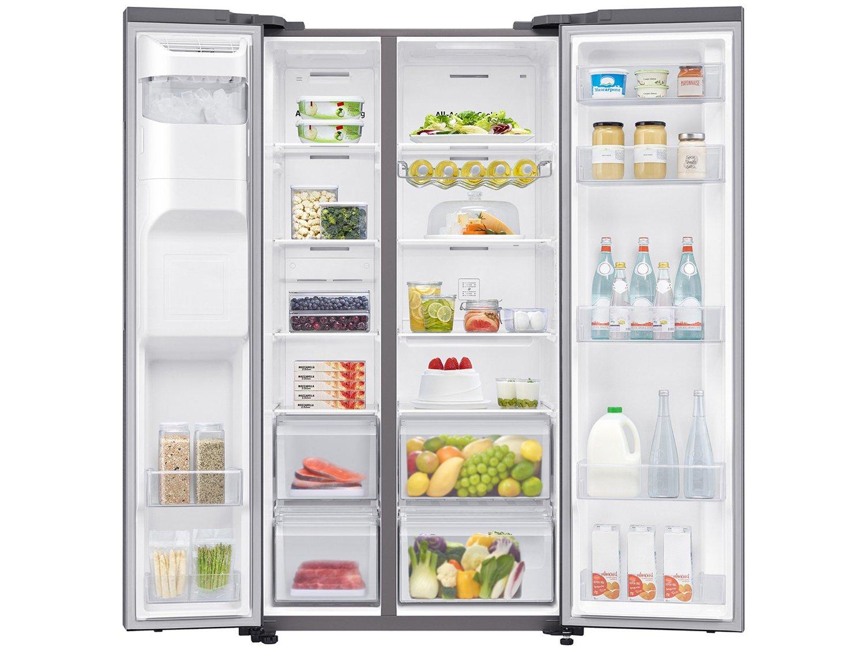 Refrigerador Samsung Side by Side RS65 Inox Look - 617L - 110v - 8