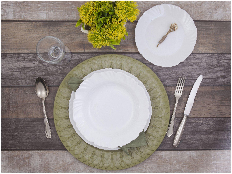 Aparelho de Jantar com Taça 16 Peças Duralex - Redondo Branco Pétala - 4