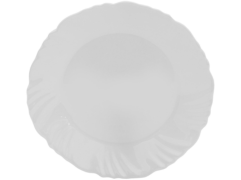 Aparelho de Jantar com Taça 16 Peças Duralex - Redondo Branco Pétala - 10