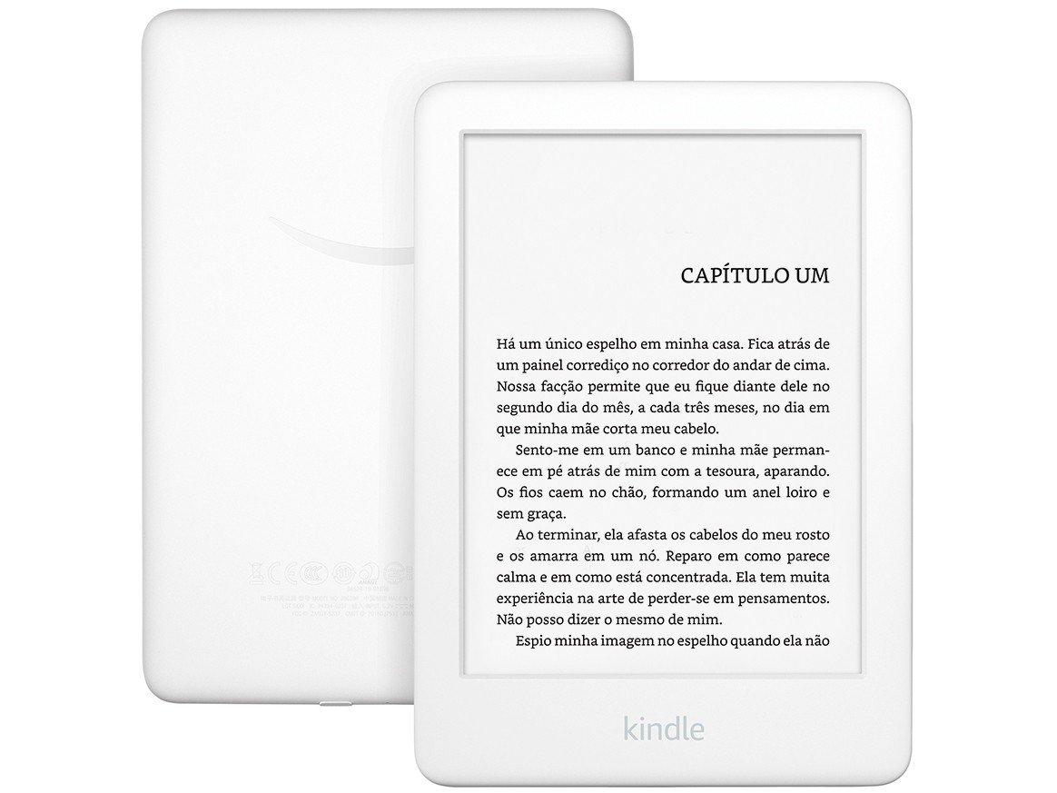 "Kindle 10ª Geração Amazon Tela 6"" 4GB Wi-Fi - Luz Embutida Branco - Bivolt"